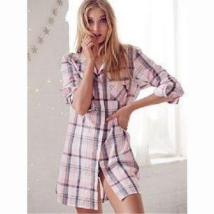 Victorias Secret Dreamer flannel sleepshirt pajama